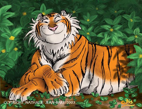 mama tiger laughing