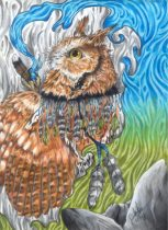 forestgypsyowl.jpg by Caroline Muchmore (Little Serval)