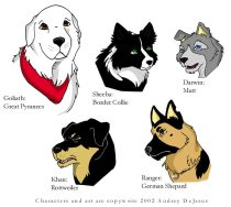 doggies.jpg by Audrey Walker (KrazyKlaws, WolfDreamer)