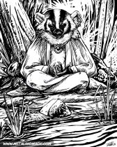 badgerzen.jpg by Ursula Vernon