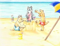 beachcats.jpg by Audrey Walker (KrazyKlaws, WolfDreamer)